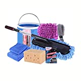 9Pcs/Set Car Cleaning Kit to Wash Car Exterior &Amp; Interior Home Cleaning Kit Microfiber Towels Cleaning Kit : Russian Federation