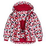 Vestes de Ski pour Enfants,Combinaison à Neige à Capuche Manteaux d'hiver Imperméables