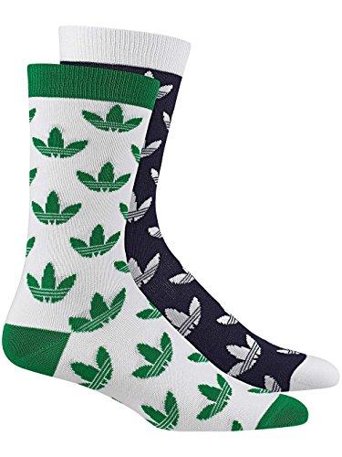 Herren Socken adidas Originals Uncommon Crew Trefoil 2Pk Socks