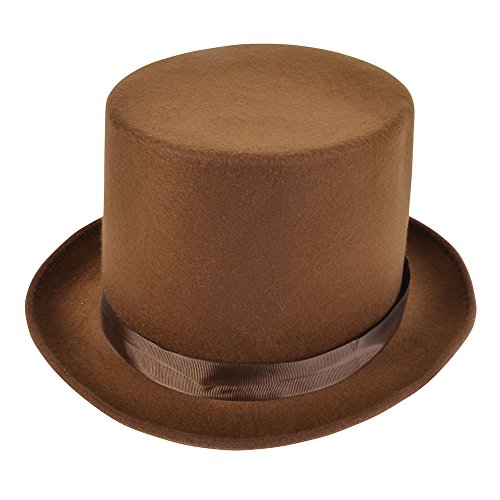 Bristol Novelty bh589 Wolle Filz Top Hat, braun, one -