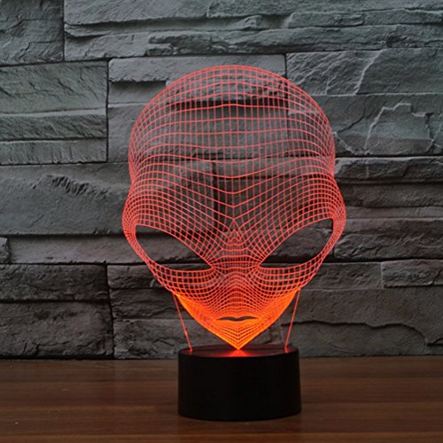 Produktbild 3D Lampe USB Power 7 Farben Amazing Optical Illusion 3D wachsen LED Lampe Alien Formen Kinder Schlafzimmer Nacht Licht