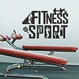 "mairgwall decal-sports Gym Fitness–motivative Art murales Santé Sport Sticker mural, Vinyle, Personnalisé, 34""h x52""w"