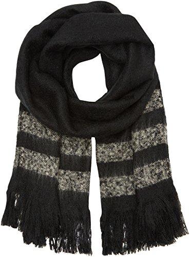 PIECES Damen Schal PCDAMINA LONG SCARF 17077787, Gr. One size, Schwarz (Black)