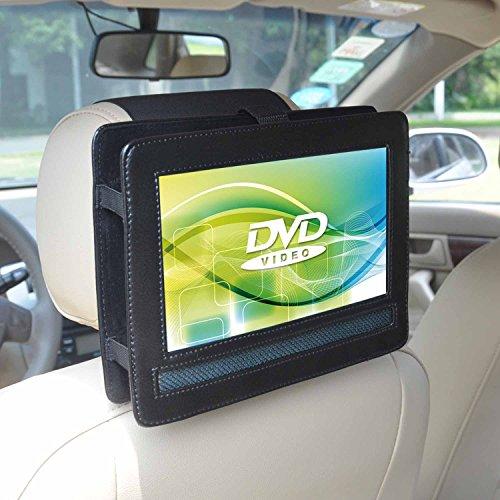 Auto KFZ Kopfstützen Halterung (PU Leder) für Voyager tragbarer DVD-Player VYCDVD9-PNK / VYCDVD9-BLK 22,8 cm (9 Zoll) mit schwenkbarem Bildschirm -