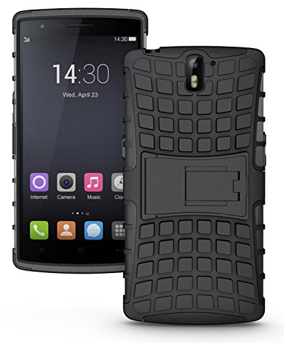 Coque OnePlus One coque incassable OnePlus One | JAMMYLIZARD | Coque incassable back cover rigide [ Alligator ] coque anti choc renforcée coque pour OnePlus One , noir