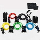 Myzixuan Corda di trazione 11 Pezzi Set Fitness Corda Resistenza Lattice Tirare Corda Set Fitness Cintura Stretch