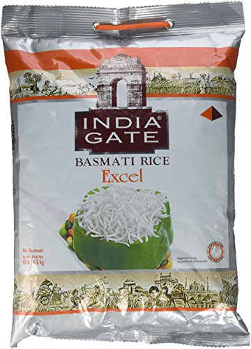 India Gate (India Gate Basmati Rice Classic 10 lb India Gate weiß Basmatireis excel, 10 lb.)