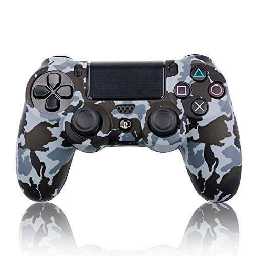 Funda Carcasa Gris y Negro Silicona para Mando Sony PS4 Dualshock 4 Camuflaje