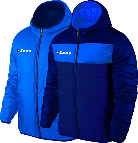Giubbotto Apollo Blu-Royal Zeus Double-Face Sport Uomo Staff Inverno Winter jogging Allenamento Relax Calcio Calcetto Torneo Reversibile unisex (XXXL)