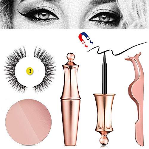 Magnetischer Eyeliner Mit 3D-Magnetwimpern Und -pinzette, Foonee Black Waterproof Magnetic Liquid Eyeliner Zur Verwendung Mit Magnetischen Falschen Wimpern