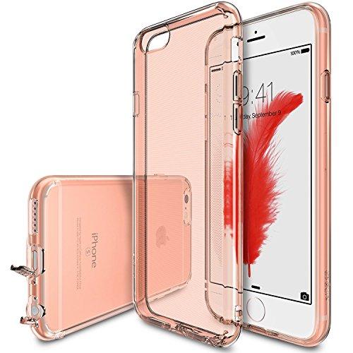 Ringke Air Kompatibel mit iPhone 6S Hülle, Extrem Leichte Schutzhülle Transparent Weich Silikon Case Flexibel Dünn TPU Cover Kratzfest Handyhülle für iPhone 6 - Rose Gold (4 6 Iphone Jordan Air Hülle)