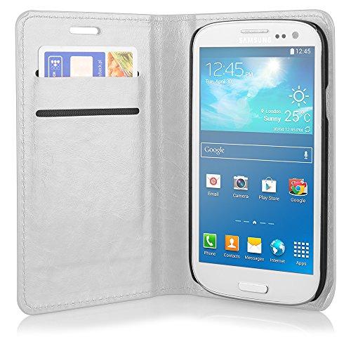Ego ® étui de protection à rabat pour téléphone portable iPhone étui de porte avec fermeture aimantée, Cuir synthétique, vert, Pour Galaxy S4 i9500 blanc