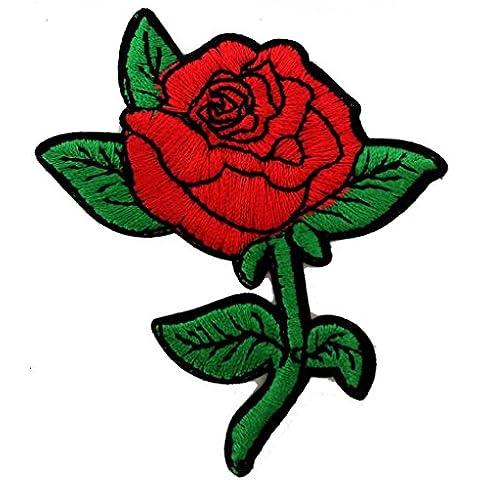Rosas hermosas rosas hermosas Patch '6.8 x 7.8 cm' - Parche Parches Termoadhesivos Parche Bordado Parches Bordados Parches Para La Ropa Parches La Ropa Termoadhesivo Apliques Iron on Patch Iron-On