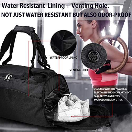 NEWHEY Sporttasche Gym Fitness, Schwarz - 2
