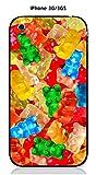 Onozo Coque Apple iPhone 3G / 3GS Design Bonbons Nounours Multicolores