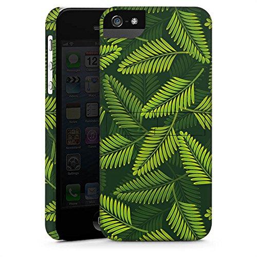 Apple iPhone 5s Housse Étui Protection Coque Palmier Plantes Plantes CasStandup blanc