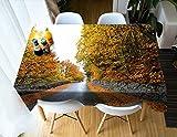 Tischdecke Gedruckt Ahorn Muster Tischdecke Vintage Rechteck Abendessen Picknick Küche Flache Tisch Blatt 140 * 200 cm / 55 * 79 in ZB-70 (Color : 12, Size : 140 * 200CM)