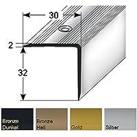 32 x 30 mm Cantos de escaleras 100 cm de largo – perfil de escalones - Bronce Claro