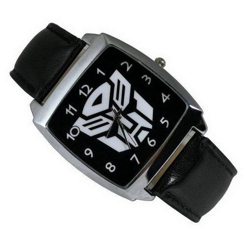 ransformers Autobot Fashion Boy Edelstahl Armbanduhr schwarz (Wenig Anime Boy)