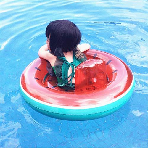 JINWEL Aufblasbarer Schwimmring Kinder Wassermelonen Schwimmen Ring des Swimmingpool Frucht Ringes Ring Schwimmhilfe in Tier Design Aufblasbar Kinder Pool Urlaub Sonne Strand Meer Wasser 3-5 Jahren