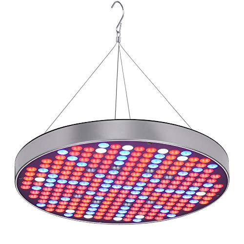 E-kinds LED Grow Light, 150 W UFO-Panel, 0,3 W * 250 SMD-LEDs, Vollspektrum mit Schalter für Zimmerpflanzen mit wachsendem und blühendem Licht