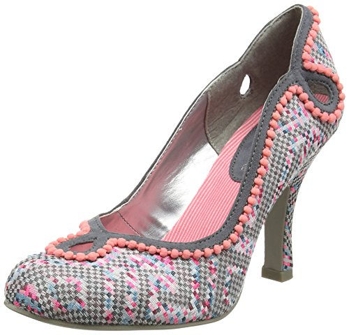 Ruby Shoo Miley, Women'S Closed-Toe Pumps, Multicolor (Grey/Pink), 4 UK (37 EU)