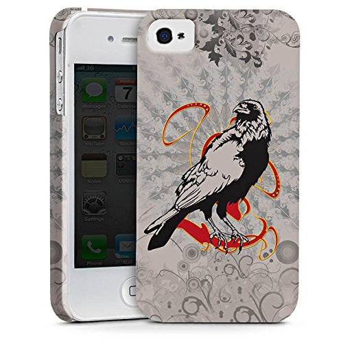 Apple iPhone X Silikon Hülle Case Schutzhülle Rabe Raven Crow Premium Case glänzend
