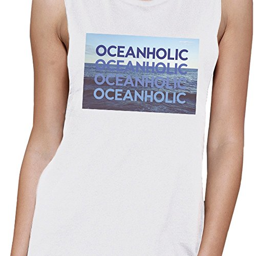 365 Printing -  Canotta  - Senza maniche  - Donna Oceanholic White Muscle Top