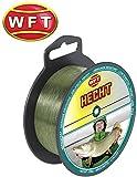 WFT Zielfisch Hecht 250m 0,40mm 12,5kg grün - Angelschnur zum Hechtangeln, Monofile Schnur für Hechte, Hechtschnur, Monoschnur