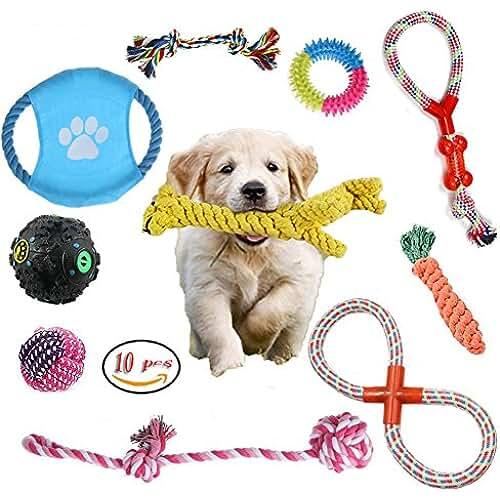 regalos tus mascotas mas kawaii 10 Conjuntos Mordedores Pet Juguete para Masticar Cuerda de Algodón de Regalo para Pequeño Mediano Grande Perrito