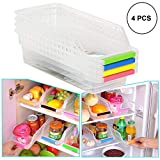 #8: ORPIO (LABLE) Kitchen Refrigerator Food Storage Box Organizer for Fridge Freezer Vegetables and Fruit Storage Container (Pack of 4)