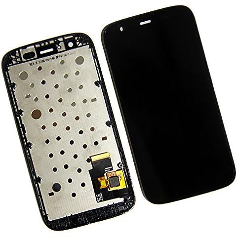 SKILIWAH® Para Motorola Moto T XT1032 XT1036 LCD Pantalla Táctil con Marco Asamblea digitalizador+ Frame Bisel,Color Negro