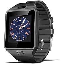 Smartwatch, CoolFoxx DZ09 Bluetooth 4.0 Mutifunctional Armbanduhr, Unterstützt Sim-Karte, TF-Karte, Intelligente Uhr mit Kamera Schrittzähler Anti-verlorene Tracker Stoppuhr Nachricht Kalender, Sync mit Iphone7 / 7P / 6 / 6S / 6P / 5S, Samsung S8 / S7 / S6 / S5 /Note 4 / Note 3, Motorola, LG, Huawei, Schwarz