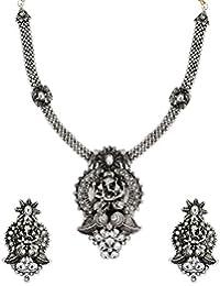 Zaveri Pearls Choker Necklace For Women (Silver)(ZPFK6313)