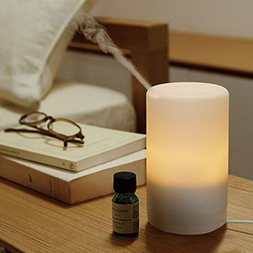 Aroma Diffusor Usb (aijiwu USB Aroma Diffusor 50ml mit 7Farbe LED Lampen und automatische shout-off Mini Air Refresher tragbar für Auto/Büro/Schlafzimmer/Klassenzimmer)