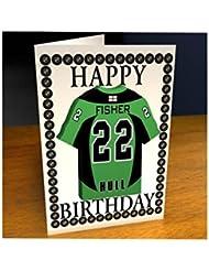 English Premier League–EPL Jersey de Hockey sobre hielo tarjetas de cumpleaños–cualquier nombre, cualquier número, cualquier equipo., color Hull Pirates