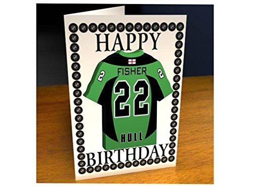 sch Eishockey Premier League EPL Jersey Eishockey Kühlschrank Magnet Geburtstag Karten - Jeder Name, beliebige, jedes Team, kostenlose Personalisierung. (Pitts Pirates)