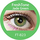 Lentilles De Contact De Couleur Jade Green 3Tons 12 Mois sans correction
