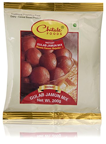 Chitale Bandhu Mithaiwale Instant Gulab Jamun Mix, 200 grams (Pack of 3)