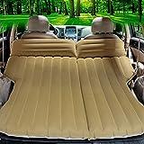CYOUZHE Auto Aufblasbares Bett/Weiche Beflockung Campingmatten Urlaub Auto Zubehör Portable Falten 195 * 106Cm Empfohlen Empfohlen,Beige