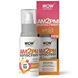 WOW AM2PM SPF50 Water Resistant No Parabens & Mineral Oil Sunscreen Lotion, 100ml Amazon Deal