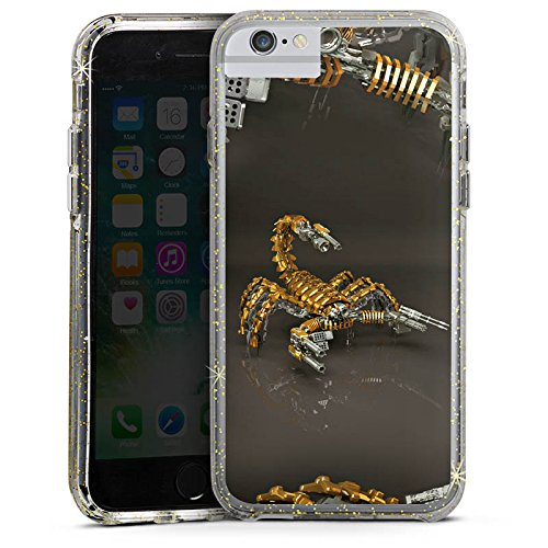 Apple iPhone 6 Plus Bumper Hülle Bumper Case Glitzer Hülle Skorpion Gold Scorpion Bumper Case Glitzer gold