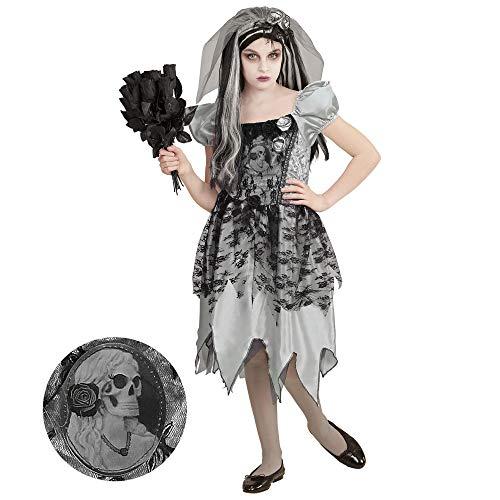 Kostüm Schwarz Braut - Widmann 05467 Kinderkostüm Geisterbraut, 140 cm
