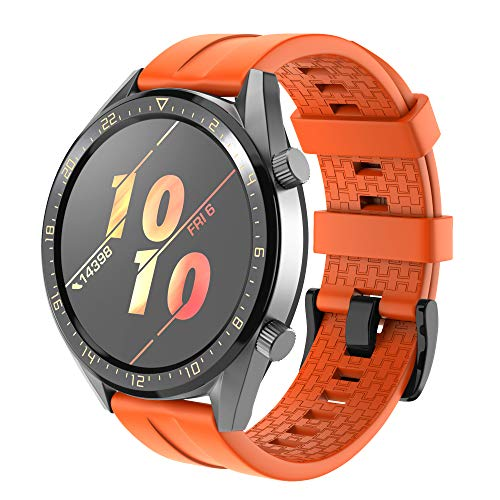 NotoCity Cinturino Compatibile con Huawei GT Watch/Samsung Galaxy S4 46mm Watch/Gear S3 in Silicone...