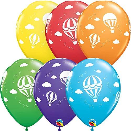 s Heißluftballon bunt Qualatex, ca. 30 cm, 5 St. ()