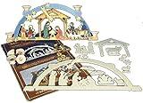 Unbekannt Holz Bastelset 3-D - Schwibbogen Geburt Christi - komplett ausgesägt natur / zum selber basteln - Echt Erzgebirge Deko für Weih..