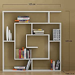 Bibliothèque axel labyrinthe hot de séparation blanc