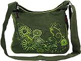 Schultertasche, Hippie Tasche, Goa Tasche, Umhängetasche, Damentasche - grün / Schultertaschen