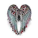 good01Lady Fashion Multicolor Strass Flügel Engel Charm Ring Finger Jewelry, 4#, Einheitsgröße