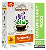 First Solids Organic Baby Food Sprouted Ragi Porridge Mix 300g (6+ Months)